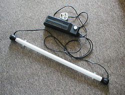 Fig. 1:  Typical UK Fluorescent Tube and Ballast Set